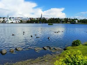 Reykjavik Sehenwürdigkeiten - Aussicht auf Reykjaviks Hafen