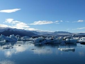 Gletscherlagune in Südisland