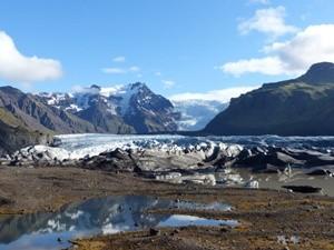 An der Gletscherzunge des Vatnajökull Skaftafell Gletscherwanderung