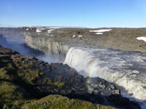 Gullfoss Wasserfall mit Regenbogen