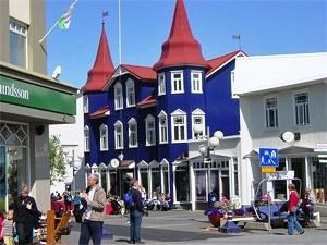 Akureyri in Nordisland