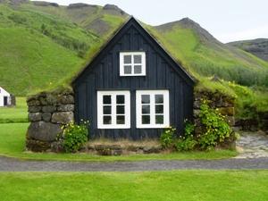 Traditionelles Haus auf Island