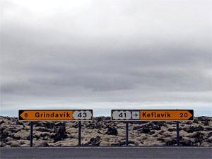 Auf dem weg zum Keflavik Flughafen in Island