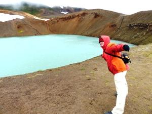 Vitti Krater in Mývatn in Island