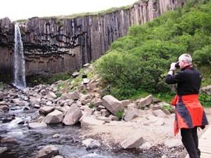 Wandern Island island-svartifoss-landschaft