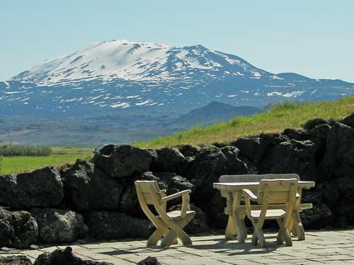 Terrasse an der Vulkanroute