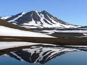 Vulkan unter eis