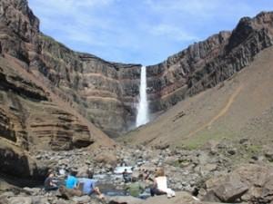 Hengifoss Wasserfall in Island