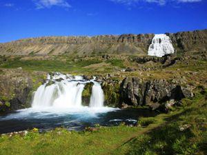 Wasserfall Dyniandi Westfjorde Island