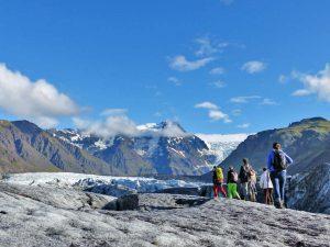 Wanderung auf einer Gletscherzunge des Vatnajökull