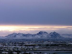 Winter über Reykjavik