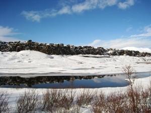 Thingvellir Nationalpark im Winter