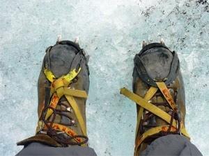 Wandern auf dem Gletscher