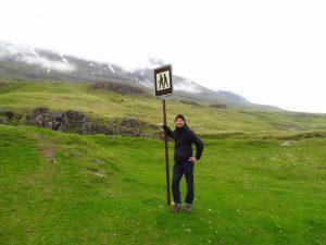 Wanderer in Island