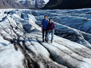 Wanderung über den Gletscher Skaftafell Gletscherwanderung