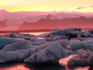 Gletscherlagune Jökulsarlon Skaftafell Gletscherwanderung