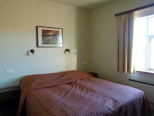 Blick in das Zimmer im Hotel in der Golden Circle Region