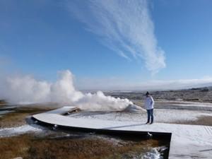 geothermales Feld in Westisland