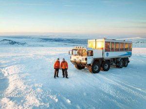 Ihr Gefährt für die Gletschertour Langjökull