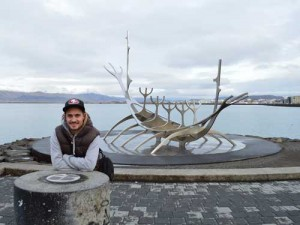 Am Hafen von Reykjavik im Winter