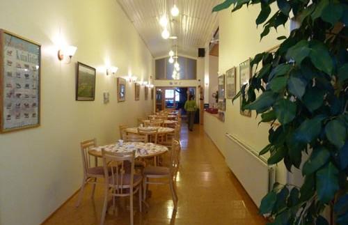 Restaurant im Gästehaus in der Mývatn Region