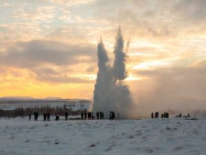 Island im Winter - Geysir