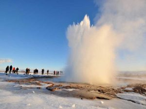 Geysir am Golden Circle