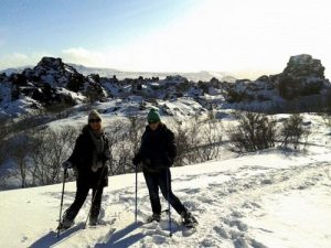 Schneeschuhwanderung am Myvatn See