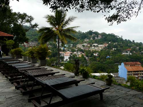 Hotelterrasse in Kandy