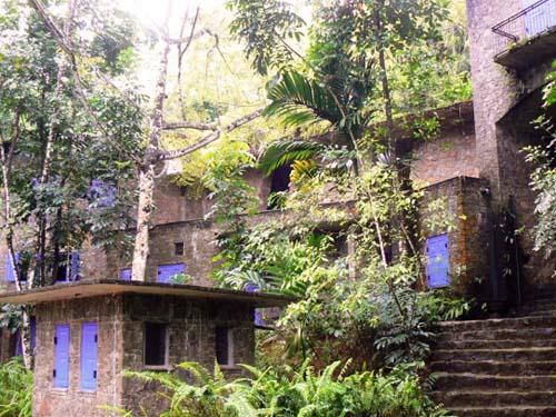 Unterkunft im dichten Regenwald
