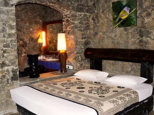 Komfortable Zimmer im Regenwald