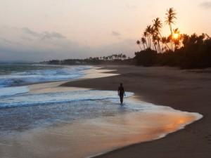 Sonnenuntergang am Strand von Tangalle