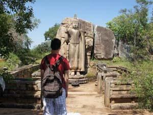 Die Buddha-Statue von Aukana