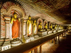 Der Höhlentempel von Dambulla von Innen