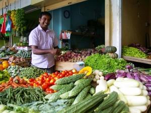 Gemüsemarktstand in Sri Lanka