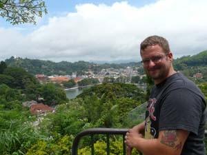 Blick auf den See in Kandy