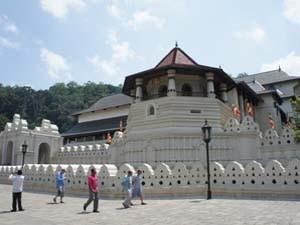 Der heilige Zahntempel in Kandy, Sri Lanka
