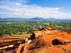 Blick vom Sigiriya Felsen auf das Umland