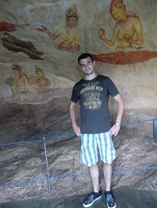 Wandmalereien in Sigiriya