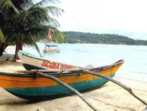 Fischerboote an der Küste