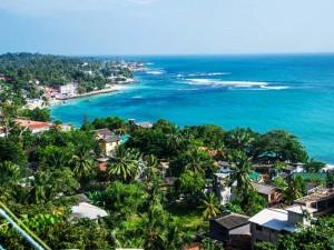 Die weitläufige Küste Sri Lankas