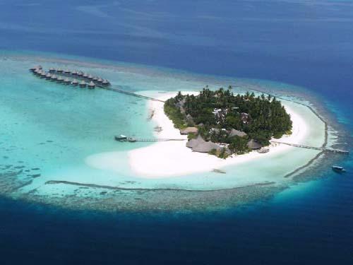 Ein kleines Atoll der Malediven