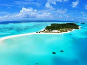 Eine Insel der Malediven