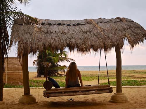 Blick auf das Meer am Strand von Kalpitiya