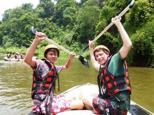 Reisespezialist Noel beim Rafting