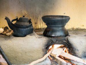Kochen über dem offenem Feuer