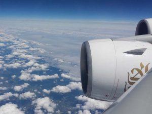 Blick aus dem Flugzeug