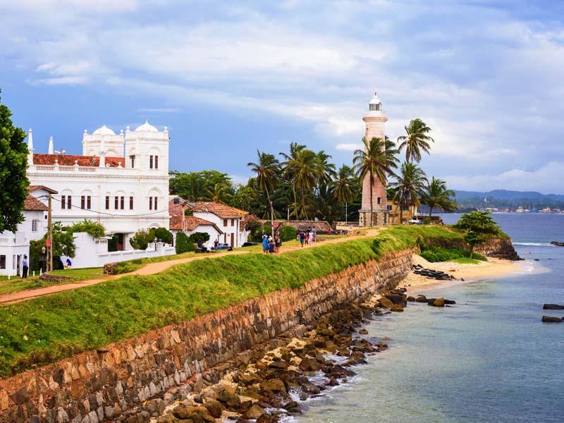Das koloniale Galle auf der Route nach Colombo