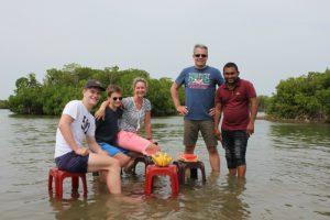 Sri Lanka Urlaub mit Kindern - Angelausflug Negombo