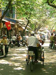Das Altstadtviertel von Hanoi